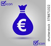 euro eur currency symbol. flat...