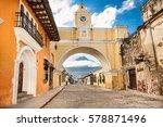 arco de santa catalina and... | Shutterstock . vector #578871496