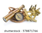 vintage still life with compass ... | Shutterstock . vector #578871766