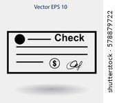 dollar check vector illustration | Shutterstock .eps vector #578879722