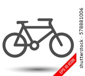bicycle icon on white... | Shutterstock .eps vector #578881006