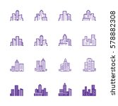 city skyline  urban landscape...   Shutterstock .eps vector #578882308