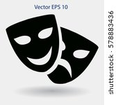 theatrical masks laughter and... | Shutterstock .eps vector #578883436