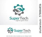 letter s technology logo... | Shutterstock .eps vector #578886856