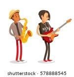 rock and jazz musicians | Shutterstock .eps vector #578888545