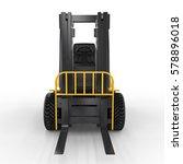3d Rendering Forklift Truck On...
