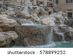 The Trevi Fountain In Rome Is...