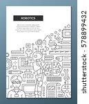 robotics   vector plain line... | Shutterstock .eps vector #578899432