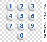 numbers set. vector. | Shutterstock .eps vector #578901496