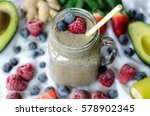 berry smoothie | Shutterstock . vector #578902345