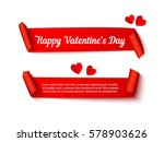 happy valentines day. two paper ... | Shutterstock .eps vector #578903626