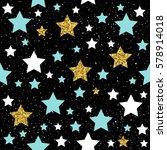 star seamless background. gold  ... | Shutterstock .eps vector #578914018