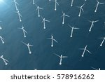 offshore aerial view of wind... | Shutterstock . vector #578916262