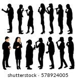 vector silhouette of people... | Shutterstock .eps vector #578924005