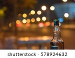 Bottle Of Whiskey On Bokeh At...