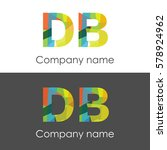 db letter abstract mosaic shape ... | Shutterstock .eps vector #578924962