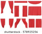 Luxury Red Silk Velvet Curtain...