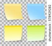 sticky notes on transparent... | Shutterstock .eps vector #578929282