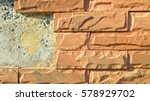 the surface of the brick... | Shutterstock . vector #578929702