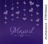 Violet Background With Small...