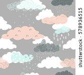 seamless vector pattern of pink ... | Shutterstock .eps vector #578936515