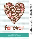 love card design. vector... | Shutterstock .eps vector #578939926
