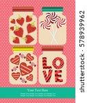 love card design. vector... | Shutterstock .eps vector #578939962