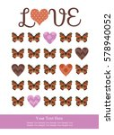 love card design. vector... | Shutterstock .eps vector #578940052