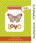 love card design. vector... | Shutterstock .eps vector #578940172