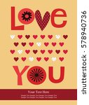 love card design. vector... | Shutterstock .eps vector #578940736