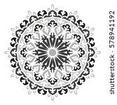 mandala. vector ethnic oriental ... | Shutterstock .eps vector #578941192