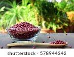 organic red mung or adzuki... | Shutterstock . vector #578944342
