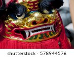 dance lion during the chinese... | Shutterstock . vector #578944576