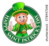 cartoon leprechaun character in ... | Shutterstock .eps vector #578947048
