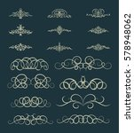 vintage decor elements and... | Shutterstock . vector #578948062