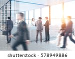 people are going past a... | Shutterstock . vector #578949886