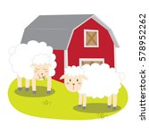 sheep in the barn vector... | Shutterstock .eps vector #578952262