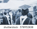blurred back of graduates... | Shutterstock . vector #578952838