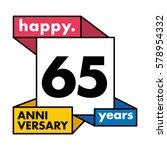 65 years anniversary...   Shutterstock .eps vector #578954332
