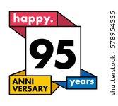 95 years anniversary...   Shutterstock .eps vector #578954335