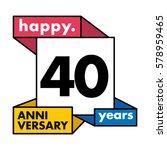 40 years anniversary...   Shutterstock .eps vector #578959465