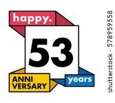 53 years anniversary...   Shutterstock .eps vector #578959558