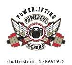 gym sport sign | Shutterstock .eps vector #578961952