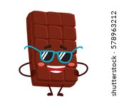 cool  funny chocolate bar... | Shutterstock .eps vector #578963212
