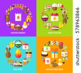 easter holiday concepts set....   Shutterstock .eps vector #578963866