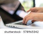 closeup of business woman hand... | Shutterstock . vector #578965342