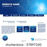 web site vector design template | Shutterstock .eps vector #57897100