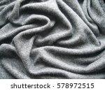 texture of gray woolen knitwear.... | Shutterstock . vector #578972515