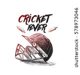 creative helmet for cricket... | Shutterstock .eps vector #578973046