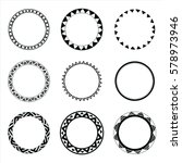 set of hand drawn ethnic circle ...   Shutterstock .eps vector #578973946